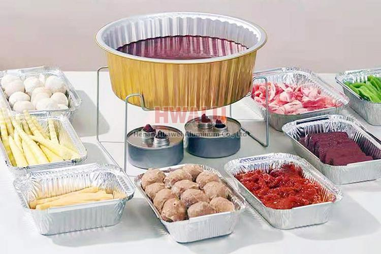 color coated aluminum foil container