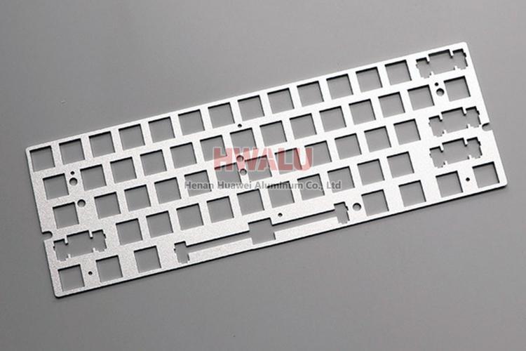 plaque de clavier en aluminium