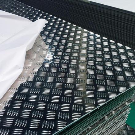 five bar aluminum tread plate
