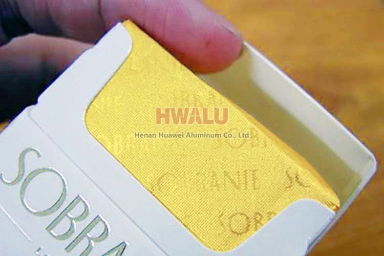aluminum foil cigarette pack
