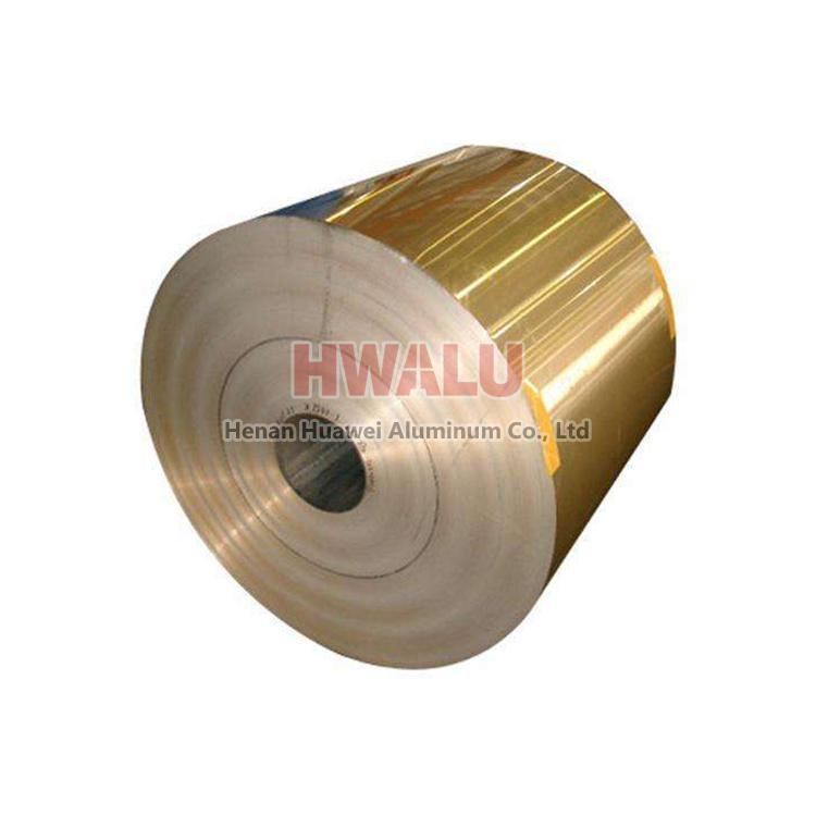 china gold printed coated aluminum foil paper
